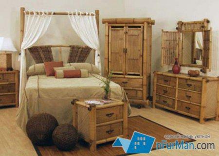 Мебель и аксессуары из бамбука в интерьере
