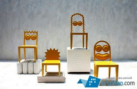 Проект Simpsons Chair Set – стулья семейства Симпсонов